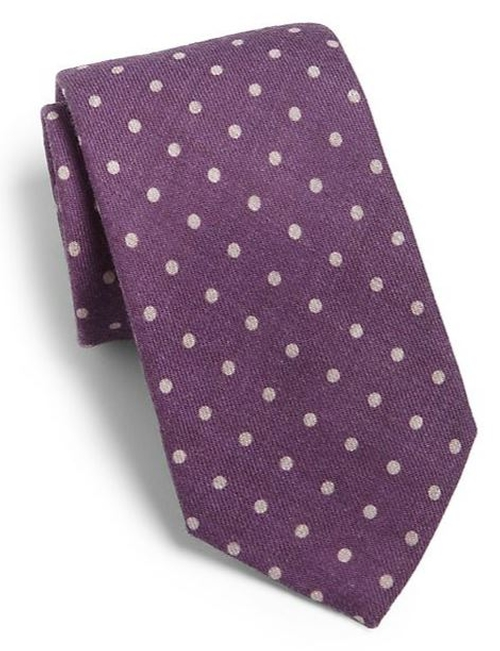 Polka Dot Silk Tie by Eton Of Sweden in The Mindy Project - Season 4 Episode 8