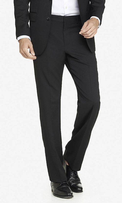 Wool Blend Producer Suit Pant by Express in The Best of Me