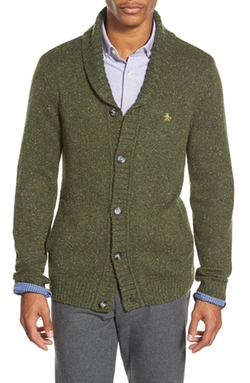 Heritage Slim Fit Shawl Collar Cardigan by Original Penguin in Christmas Vacation