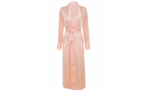 'Coryn' Blush Silky Duster Coat by House of CB London in Scream Queens