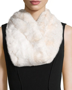 Faux Mink Fur Infinity Scarf by Fabulous Furs in Scream Queens