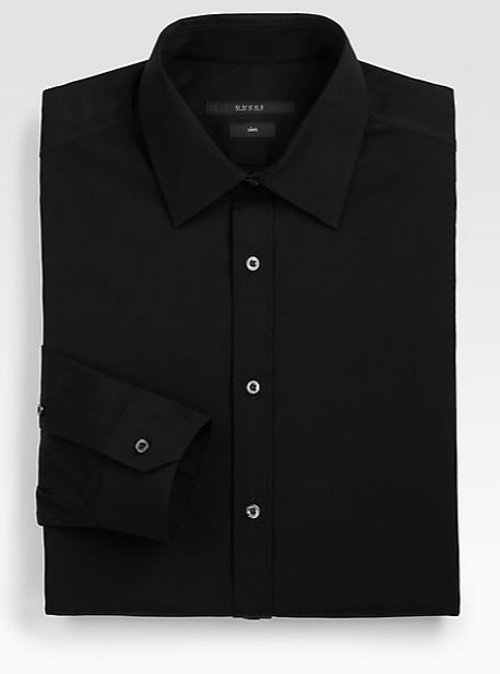 Stretch Cotton Dress Shirt by Gucci in The Gambler