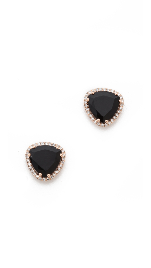 Diamond Stone Slice Stud Earrings by EF Collection in Pretty Little Liars - Season 6 Episode 7