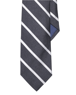 Striped Silk Repp Narrow Tie by Ralph Lauren in Life