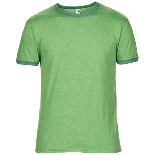 Mens Plain Lightweight Ringer T-Shirt by Anvil in The A-Team