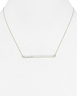 Chelsea Horizontal Bar Necklace by Jennifer Zeuner in Ballers