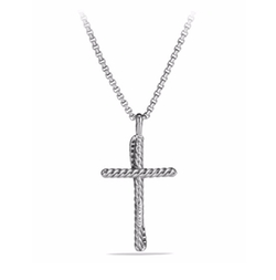 Cross Diamond Pendant Necklace by David Yurman in Keeping Up With The Kardashians