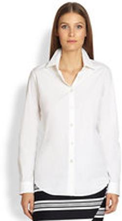 Classic Cotton Poplin Shirt by Max Mara in The November Man