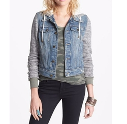 Denim & Knit Jacket by Free People  in Jane the Virgin