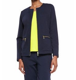 Stretch Interlock Zip-Front Jacket by Joan Vass in The Good Fight