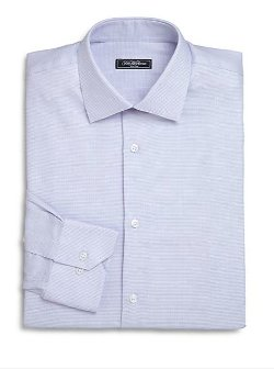 Micro Houndstooth Print Dress Shirt by Saks Fifth Avenue Collection in Get Hard