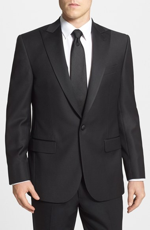 Russell Classic Fit Dinner Jacket by David Donahue in Southpaw