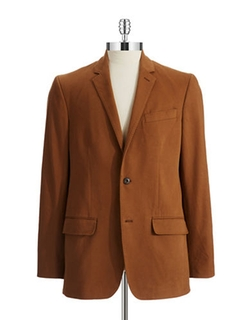 Cotton Two-Button Blazer by Black Brown 1826 in Daddy's Home