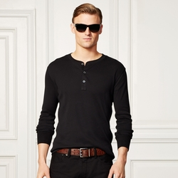 Pima Long-Sleeved Henley by Ralph Lauren in American Horror Story