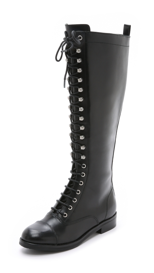Garth Lace Up Boots by Belle by Sigerson Morrison in GoldenEye