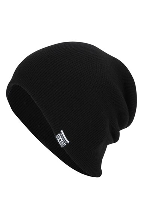 Slouchy Rib Knit Beanie by Converse in Barely Lethal