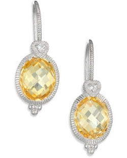 La Petite Canary Crystal, White Sapphire & Sterling Silver Oval Drop Earrings by Judith Ripka in The Mindy Project