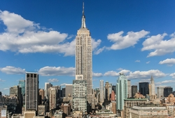 New York City, New York by Empire State Building in Gold