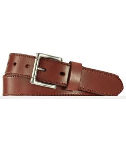 Plaque Leather Belt by Ralph Lauren in Ride Along