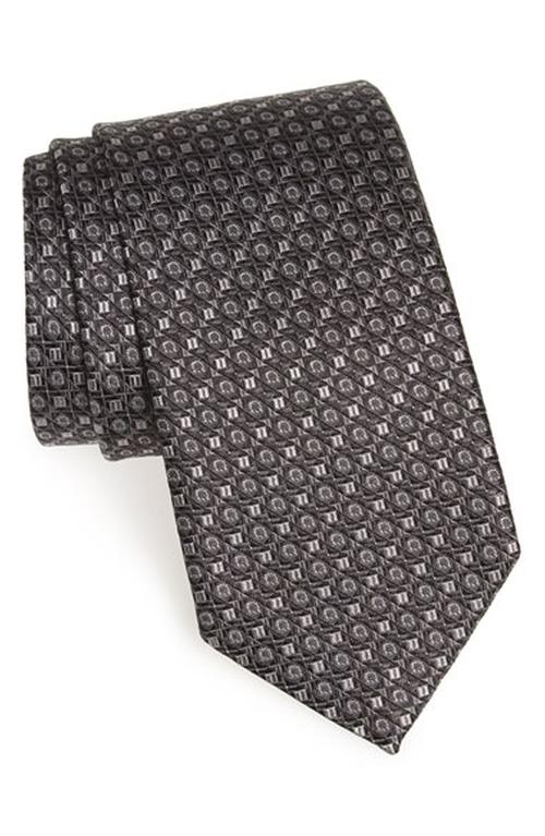 Gancini Print Silk Tie by Salvatore Ferragamo in Scandal - Season 5 Episode 9