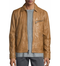 Leather Zip Moto Jacket by John Varvatos Star USA  in The Bourne Legacy