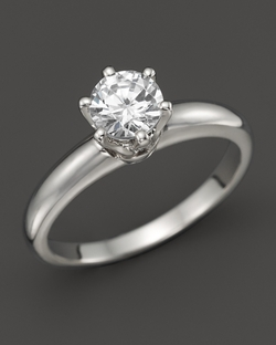 Diamond Solitaire Ring by Bloomingdale's in Bridesmaids