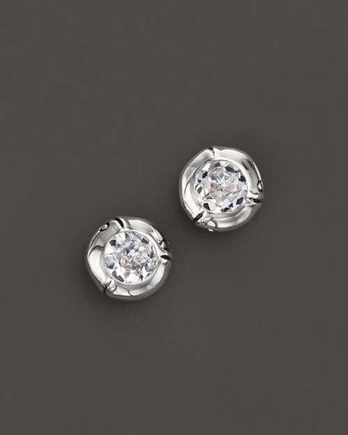 Bamboo Small Round Stud Earrings by John Hardy in Daddy's Home