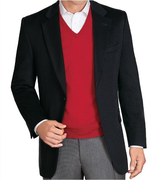 Executive 2-Button Cashmere Blazer by Jos. A. Bank in Ted