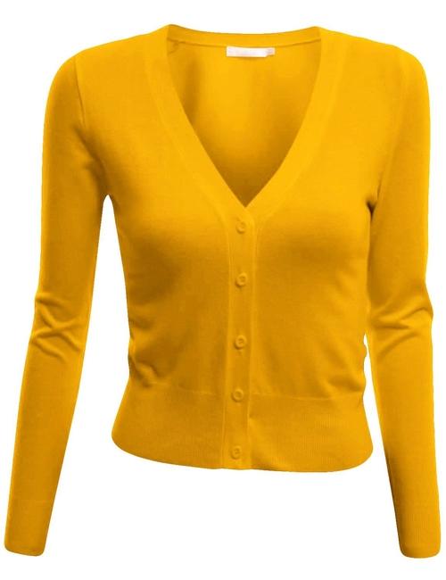 Women's Short Length Knit Shrug by Doublju in Clueless
