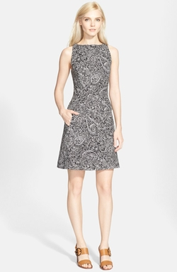Print Sleeveless A-Line Dress by Tory Burch in How To Get Away With Murder