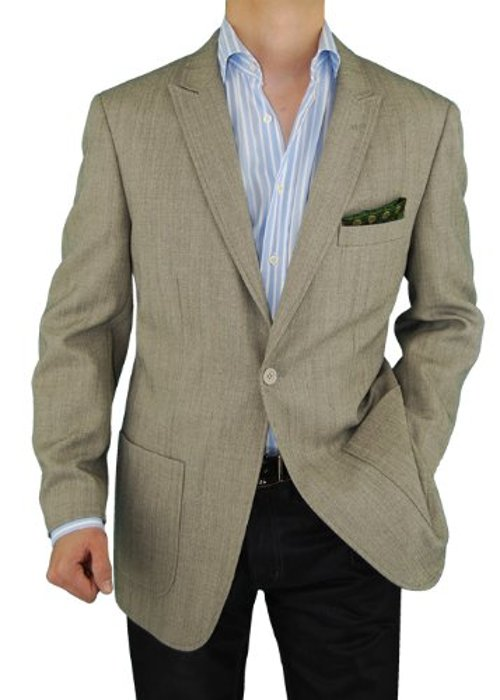 Men's Blazer One Button Modern Fit Coat by Darya Trading in Hall Pass