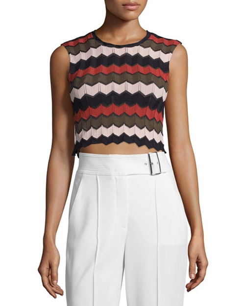 Leo Sleeveless Zigzag Crop Top by A.L.C. in Pretty Little Liars