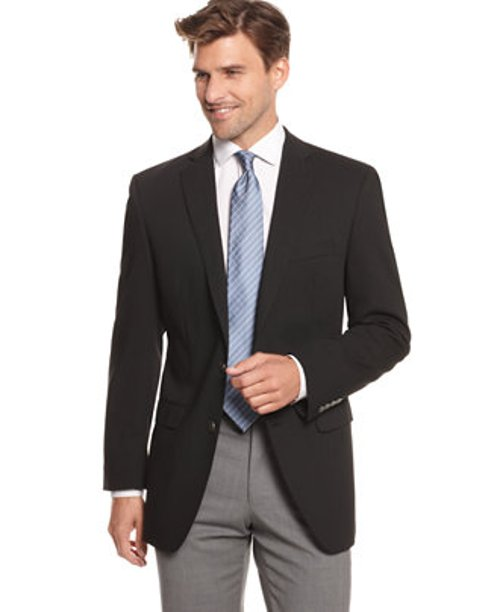Blazer 2 Metal Button Stretch Wool by Calvin Klein in John Wick