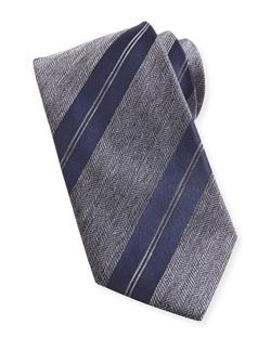 Striped Herringbone Tie by Brioni in Suits