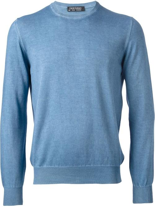 Crew Neck Sweater by Gran Sasso in The Giver