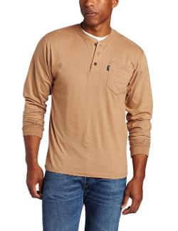 Men's Long Sleeve Heavyweight 3-Button Pocket Henley by Key Apparel in The Maze Runner