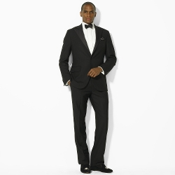 Peak-Lapel Flat-Front Tuxedo Suit by Ralph Lauren in The Second Best Exotic Marigold Hotel
