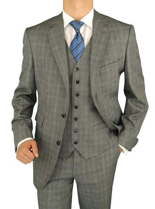 Men's Gray 4 Piece Vested Side-Vent Suit Extra Pants by Bianco B in Anchorman 2: The Legend Continues