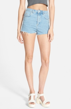Moto Slouchy Cutoff Shorts by Topshop in Absolutely Anything