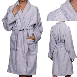 Unisex Medium Egyptian Cotton Lavender Robe by Marrikas in Fight Club
