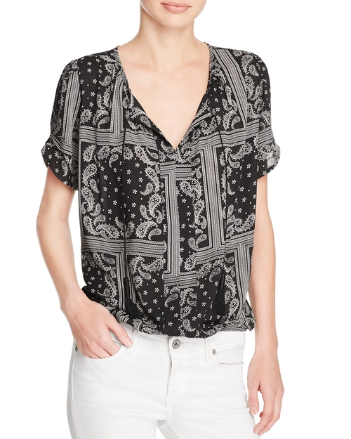 Bandana Print Top by Aqua in New Girl - Season 6 Episode 3