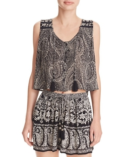 Paisley Button Front Tank by Aqua in Modern Family