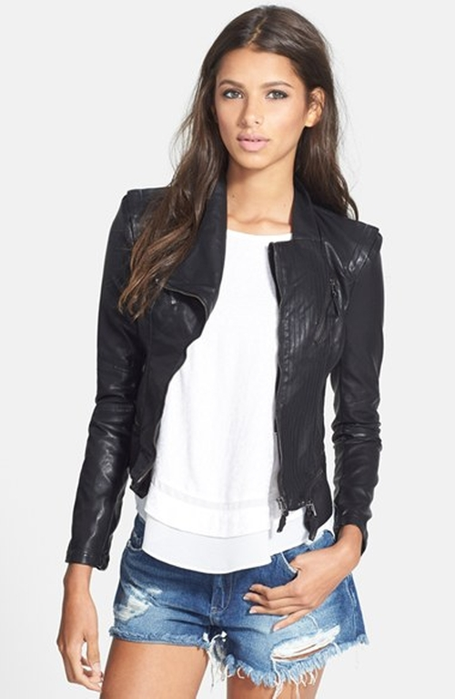 Faux Leather Jacket by BLANKNYC in Pretty Little Liars - Season 6 Episode 5