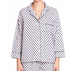 Printed Marina Cotton Pajama Shirt by Sleepy Jones in Santa Clarita Diet