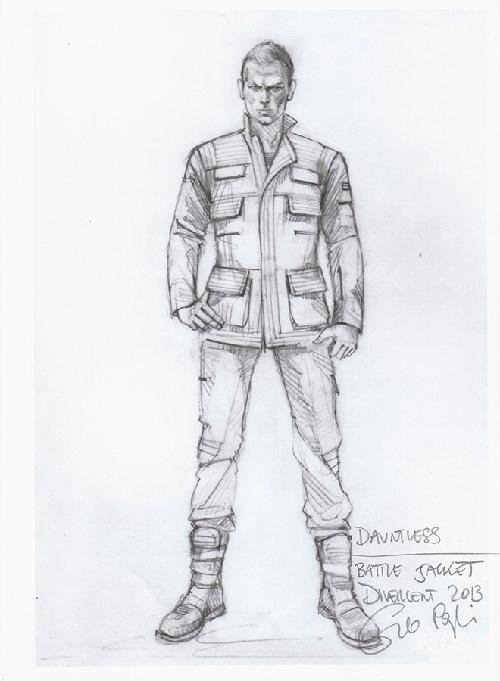 Custom Made 'Dauntless' Battle Uniform Jacket  (Uriah) by Carlo Poggioli (Costume Designer) in The Divergent Series: Insurgent