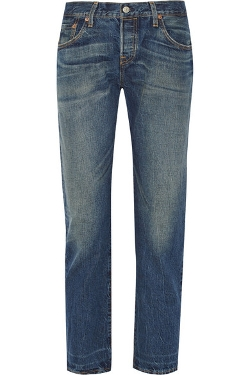 Mid-Rise Straight-Leg Jeans by Levi's 501 CT Jeans in Self/Less