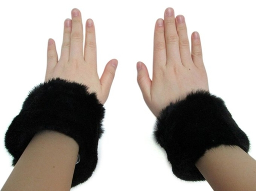 Mink Bracelets & Slap-On Cuffs by Furs New York in Scream Queens