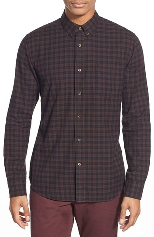 Lucas Slim Fit Check Sport Shirt by Slate & Stone in Vinyl - Season 1 Episode 1