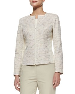 Essa Tweed Jacket by Lafayette 148 New York in That Awkward Moment