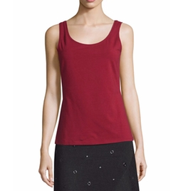 Perfect Scoop-Neck Tank Top by Nic+Zoe in Rosewood